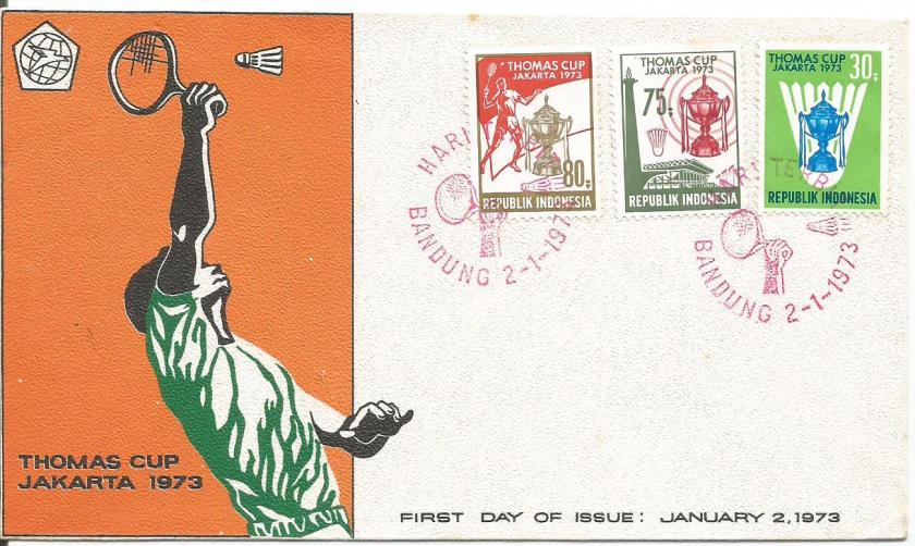 FDC INDONESIA 1973 THOMAS CUP
