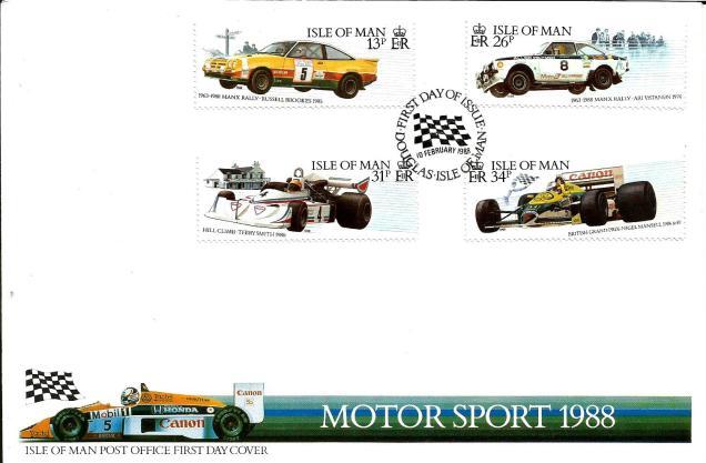 FDC IOM MOTOR SPORTS 1988