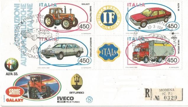 FDC ITALY CARS