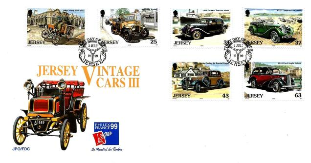 FDC JERSEY VINTAGE CARS