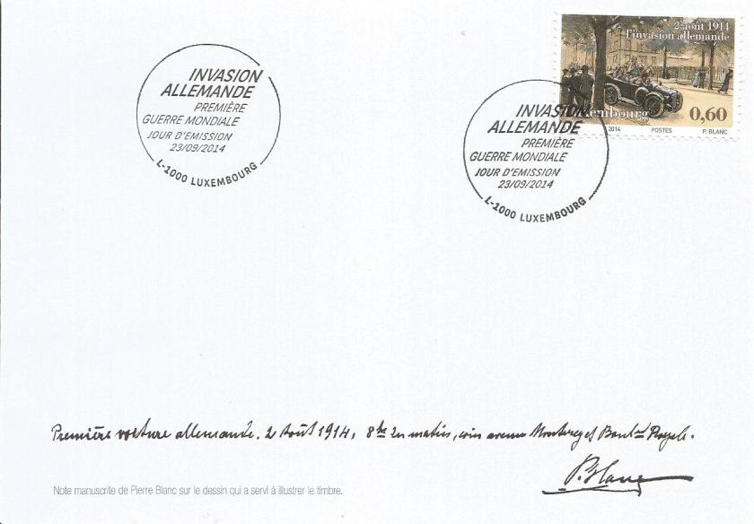 FDC LUXEMBOURG WWI