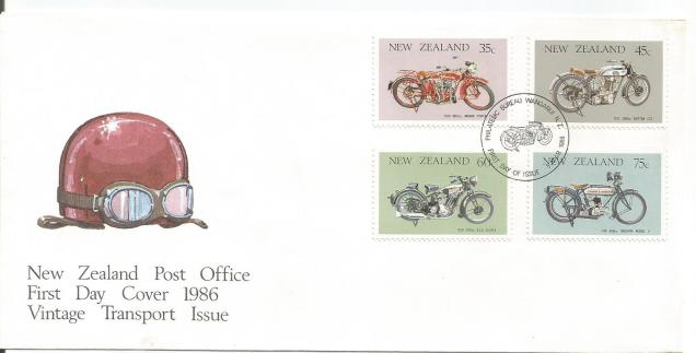 FDC NEW ZEALAND MOTORCYCLES