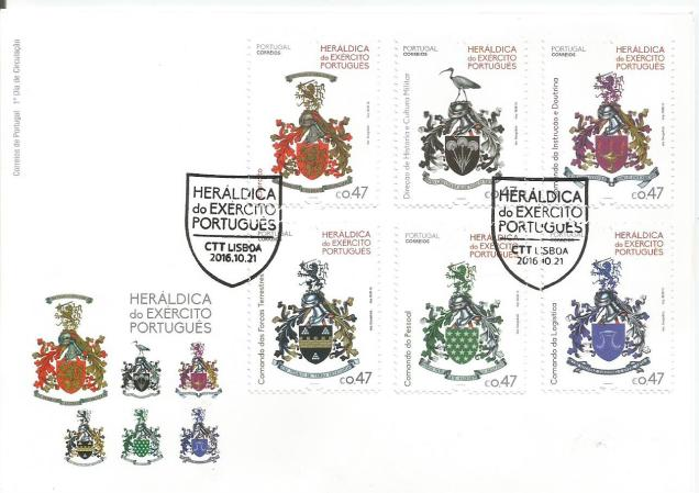 FDC PORTUGAL COAT OFARMS