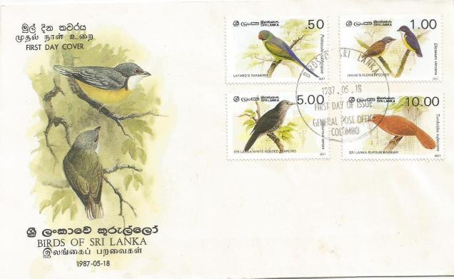 FDC SL BIRDS 87