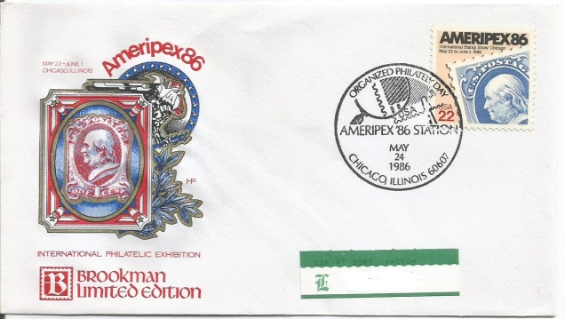 FDC USA AMERIPEX 86 1