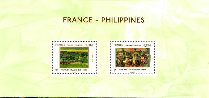 FRANCE-PHIL JT ISSUE PAINTINGS MS