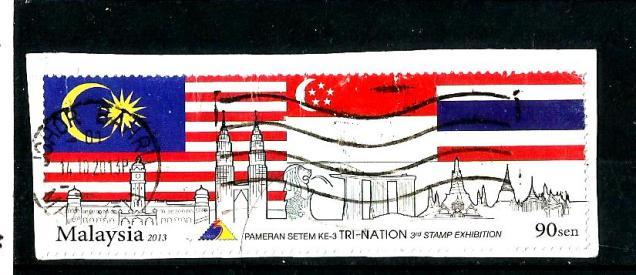 MALAYSIA TRI NATION FLAGS