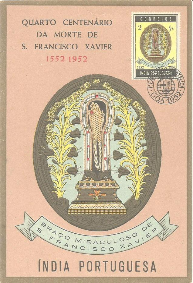 MAXIM CARD PORTUGUESE INDIA XAVIER