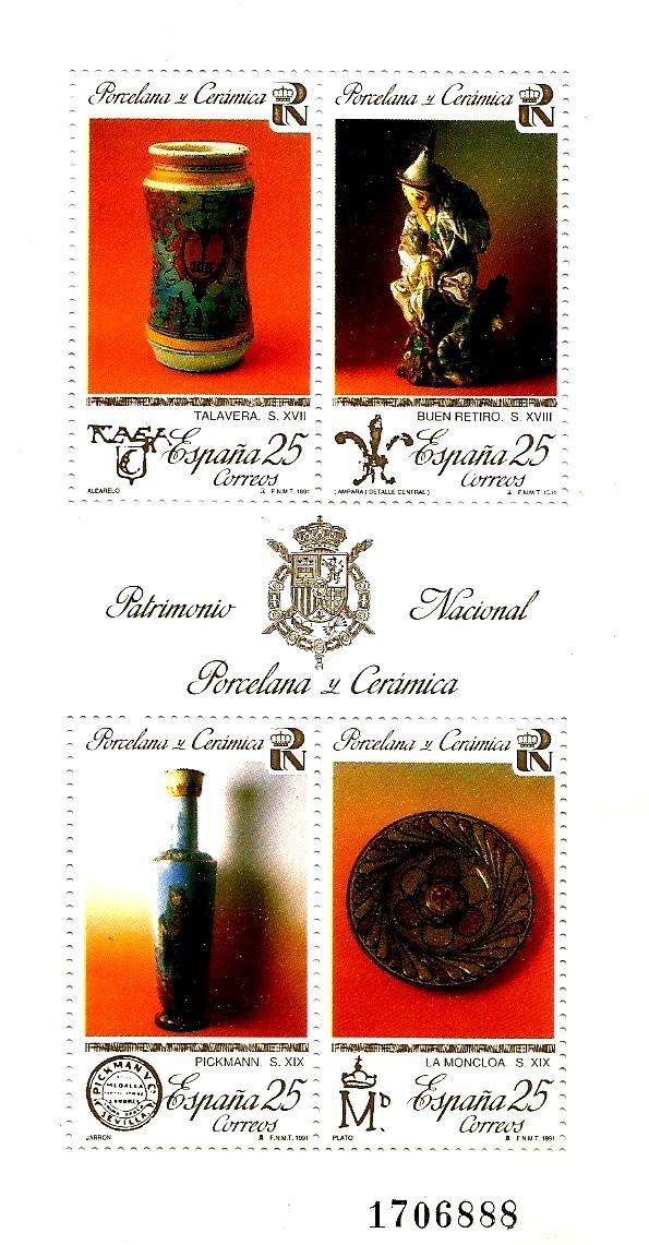 MS SPAIN 1991 - PORCELAINS & CERAMICS