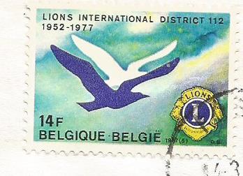 STAMP BELGIUM LIONS INT