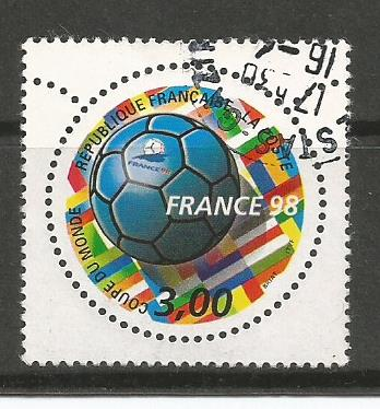 WC 98 FRANCE ODD SHAPED ONE STAMP