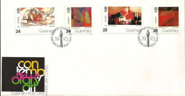 FDC GUERNSEY EUROPA 1993
