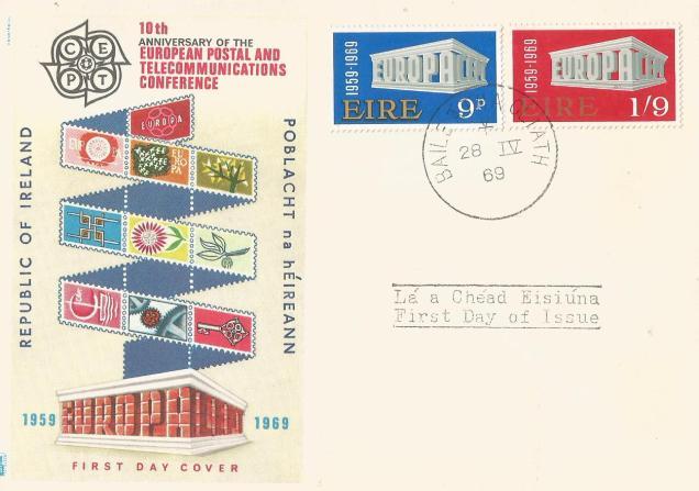 FDC IRELAND EUROPA 1969