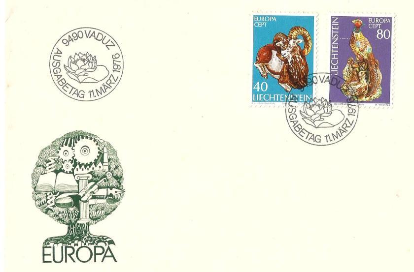 FDC LIECHTENSTEIN  EUROPA 1976