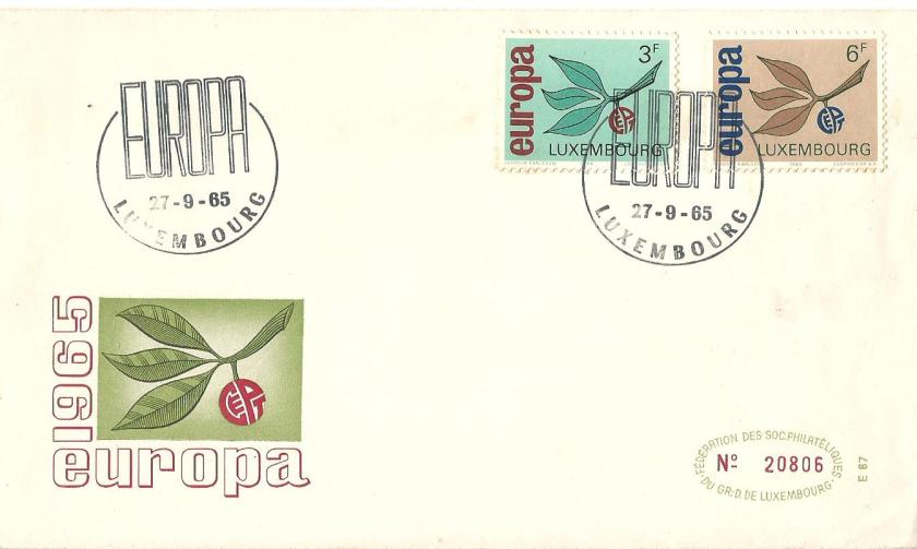 FDC LUXEMBOURG EUROPA 65