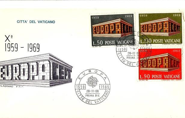 FDC VATICAN EUROPA 1969