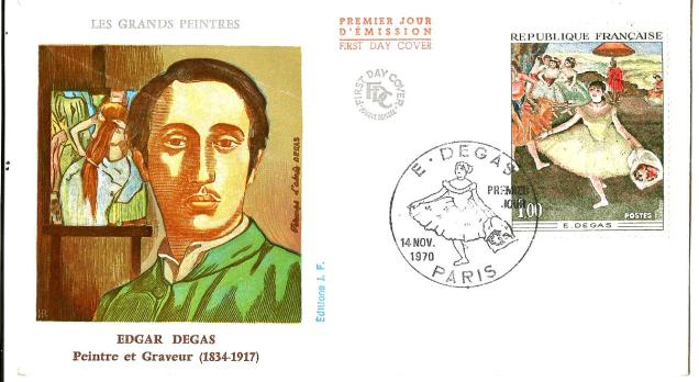 FRANCE FDC PAINTING
