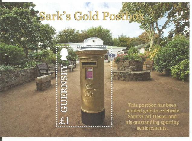 GUERNSEY GOLD POST BOX MS