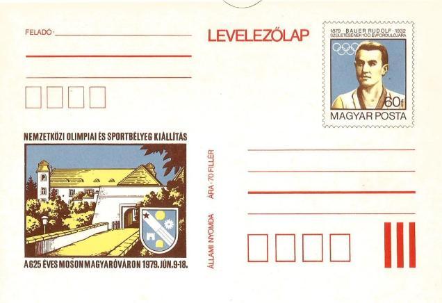 HUNGARY POST CARD OLYMPICS DISUS
