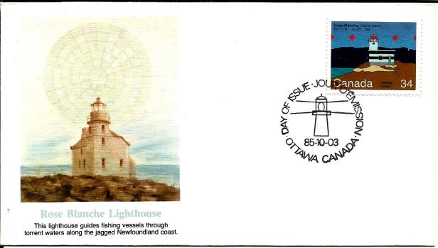 FDC CANADA LIGHT HOUSE ROSE
