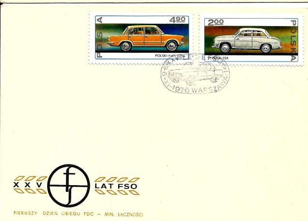 FDC POLAND CARS1