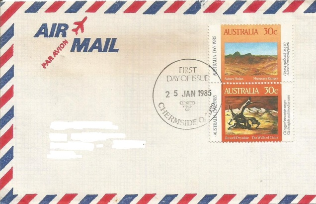 australia day fdc painting