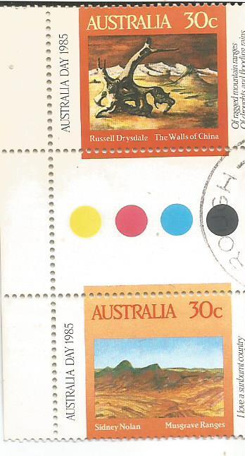 australia day fdc painting g pair