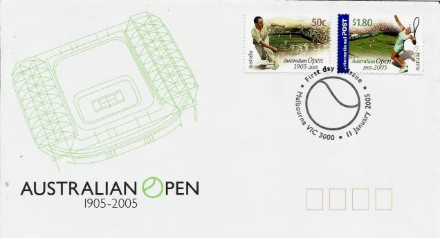 fdc australian open centenary
