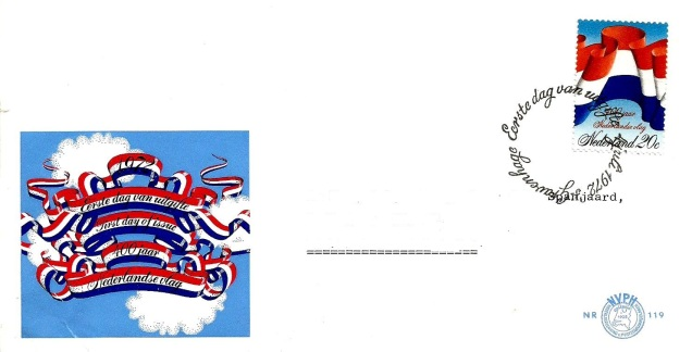 netherlands flag fdc
