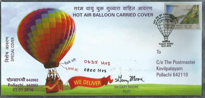 special cover hot air balloon