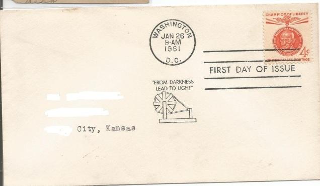 USA FDC 1961 GANDHI CHAMPION OF LIBERTY