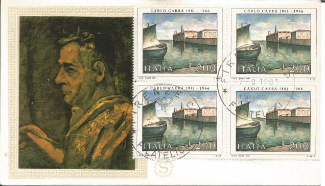 ITALY FDC PAINTINGS CARLO
