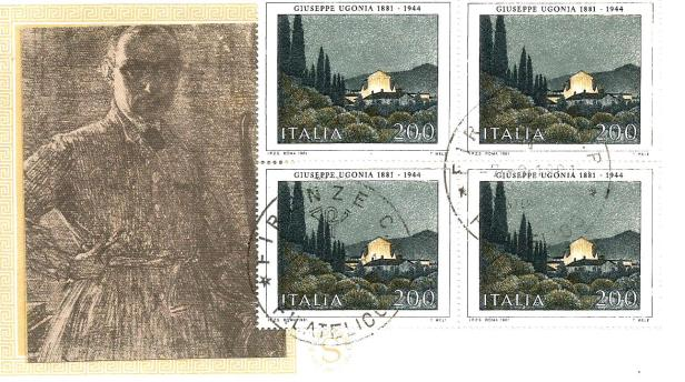 ITALY FDC PAINTINGS