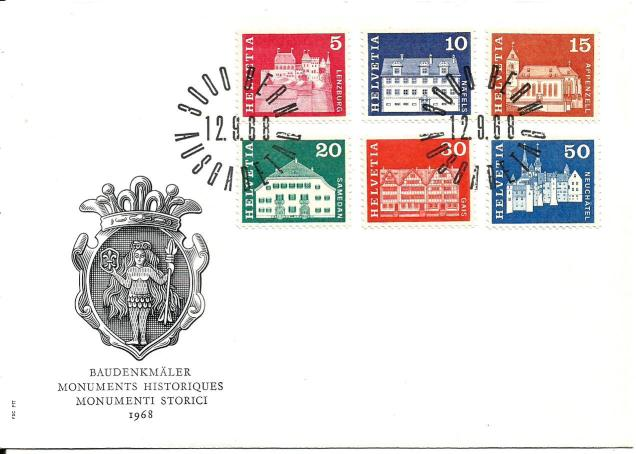 SWISS FDC MONUMENTS