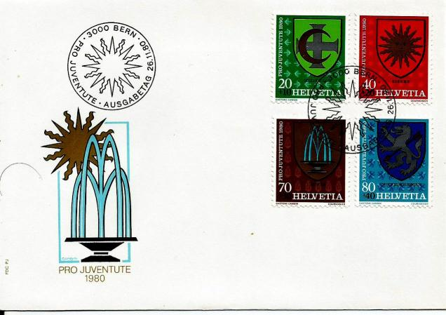 SWISS FDC PRO JUVENTUTE 1980