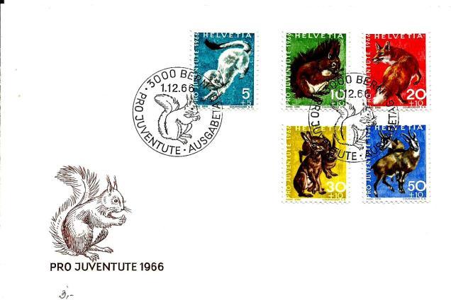 SWITZERLAND FDC PRO JUVENTUTE 1966