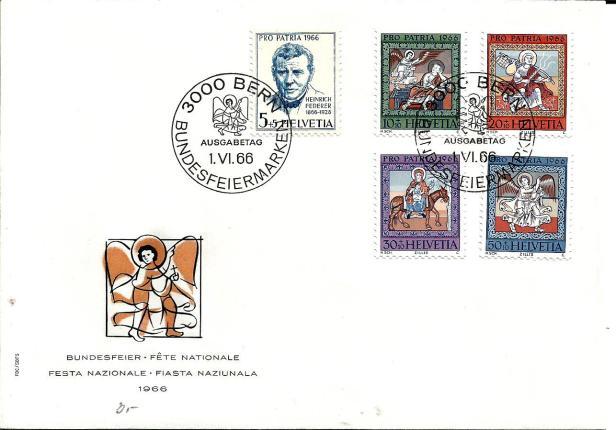 SWITZERLAND FDC PRO PATRIA 1966