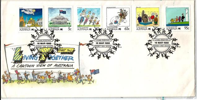 AUSTRALIA FDC LIVING TOGETHER