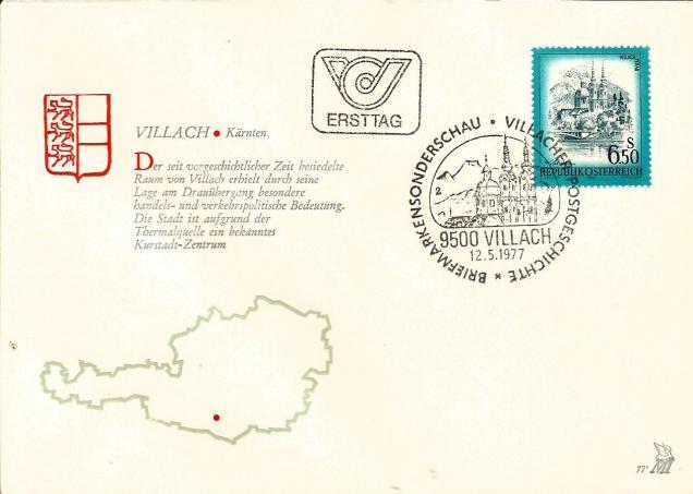 AUSTRIA FDC ARCHI 1977