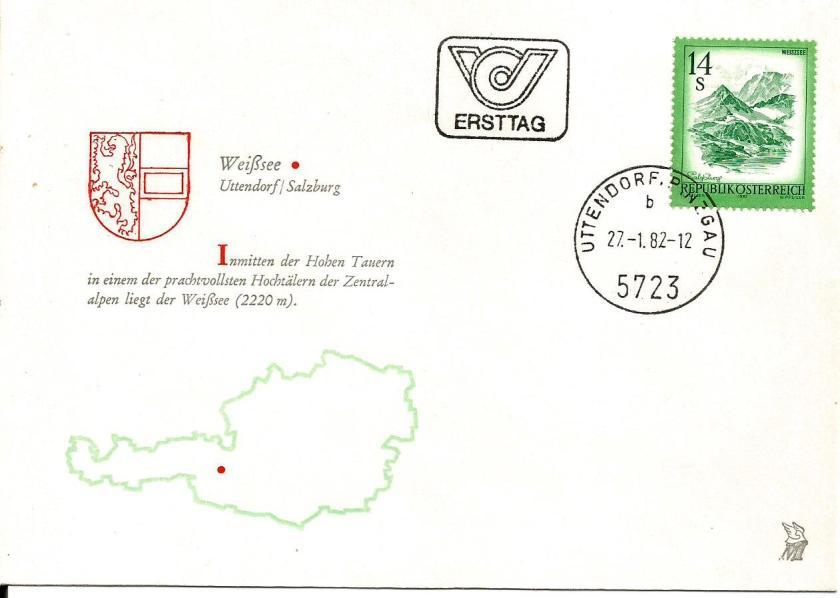AUSTRIA FDC ARCHI 1982
