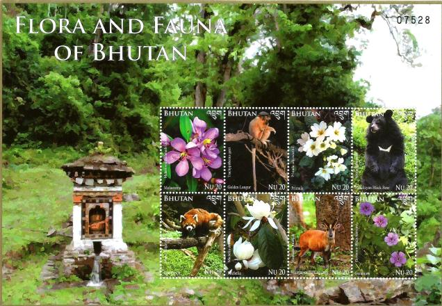 BHUTAN MS FAUNA AND FLORA