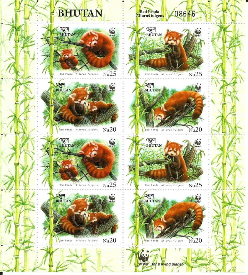 BHUTAN MS RED PANDA