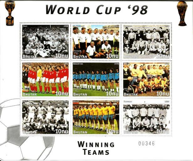 BHUTAN MS WORLD CUP 1998