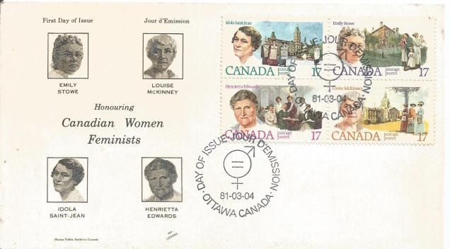 CANADA FDC WOMEN 81