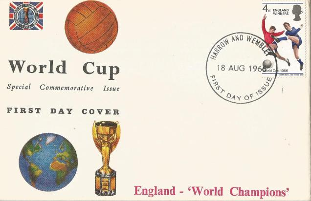 GB FDC 1966 WC FOOTBALL