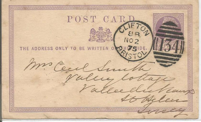 GB POSTCARD QV NO 134