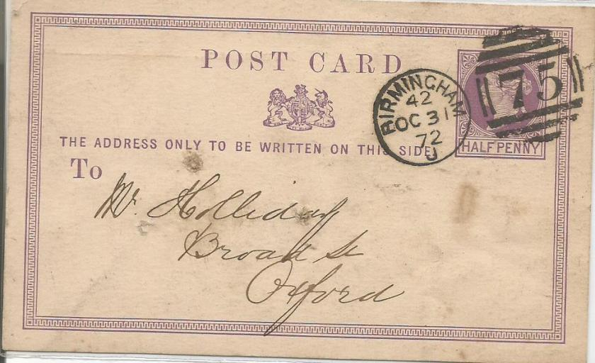 GB POSTCARD QV NO 75