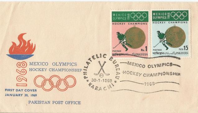 PAKISTAN 1968 OLYMPICS HOCKEY