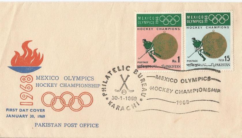 PAKISTAN 1968 OLYMPICS HOCKEY