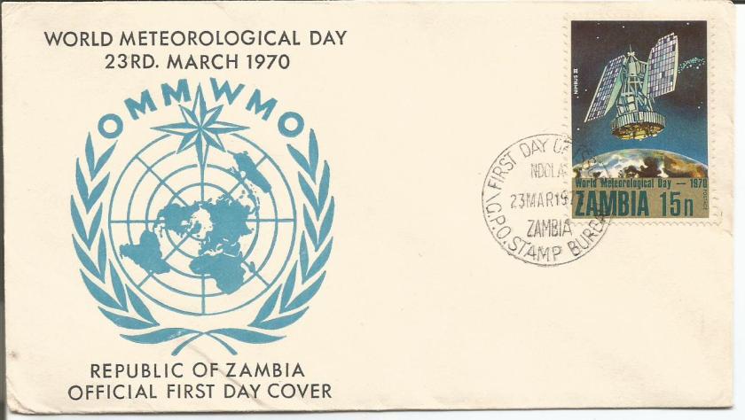 ZAMBIA FDC 1983 WMO